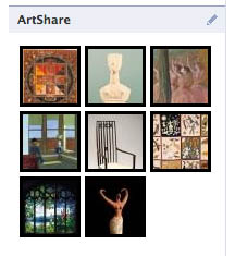 the Brooklyn Museum's ArtShare application on Facebook allows users to share art and connect with museums.